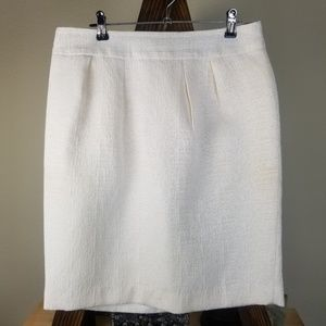 Gap Ivory Off White Jacquard Lined Pencil Skirt